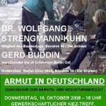 Wege aus Armut – Diskussion zum Armuts- und Reichtumsbericht am 16.10.2008