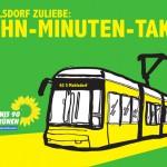 TRAM in Mahlsdorf: morgens eine knappe Stunde im 10-Min-Takt
