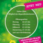 Sprechzeiten für bündnisgrünes Büro in Kaulsdorf