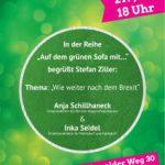 """Auf dem grünen Sofa mit Anja Schillhaneck: """"Wie weiter nach dem Brexit?"""""""