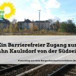 S-Bahnhof Kaulsdorf: Fußgängerbrücke Richtung Süden