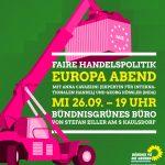 Einladung zum Europa-Abend: Faire Handelspolitik