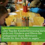 Tag der Kinderbetreuung: EIN Anlass DANKE zu sagen.