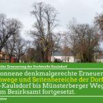Denkmalgerechte Erneuerung der Dorfstraße Kaulsdorf