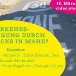 Einladung zum Onlinegespräch: Verkehrsberuhigung durch Kiezblocks in Marzahn-Hellersdorf?