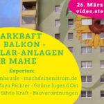 Einladung zum Onlinegespräch: Mini(Balkon)-Solar-Kraftwerke für Marzahn-Hellersdorf