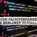 Low-Code Fachverfahren für die Berliner Verwaltung?