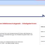 Online Anträge Infektionsschutz